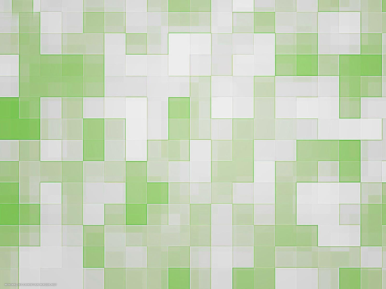 Green Mosaic Background - Minimalist Backgrounds