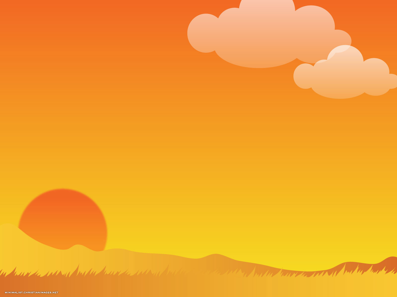 Golden Sky Background