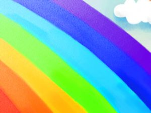 Beautiful Rainbow And Cloud Background for Powerpoint
