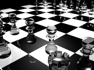 Black And White Chess Powerpoint Background