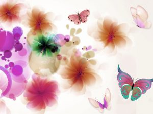 Butterfly And Flower Abstract Background