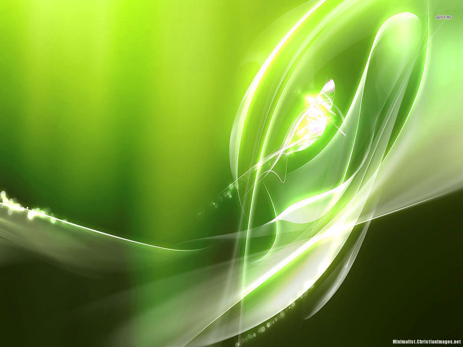 Green Light Abstract Powerpoint Background