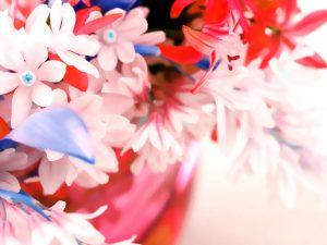 Pretty Red Flower Powerpoint Background