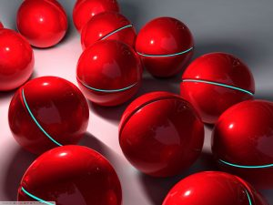 Red Balls Powerpoint Background