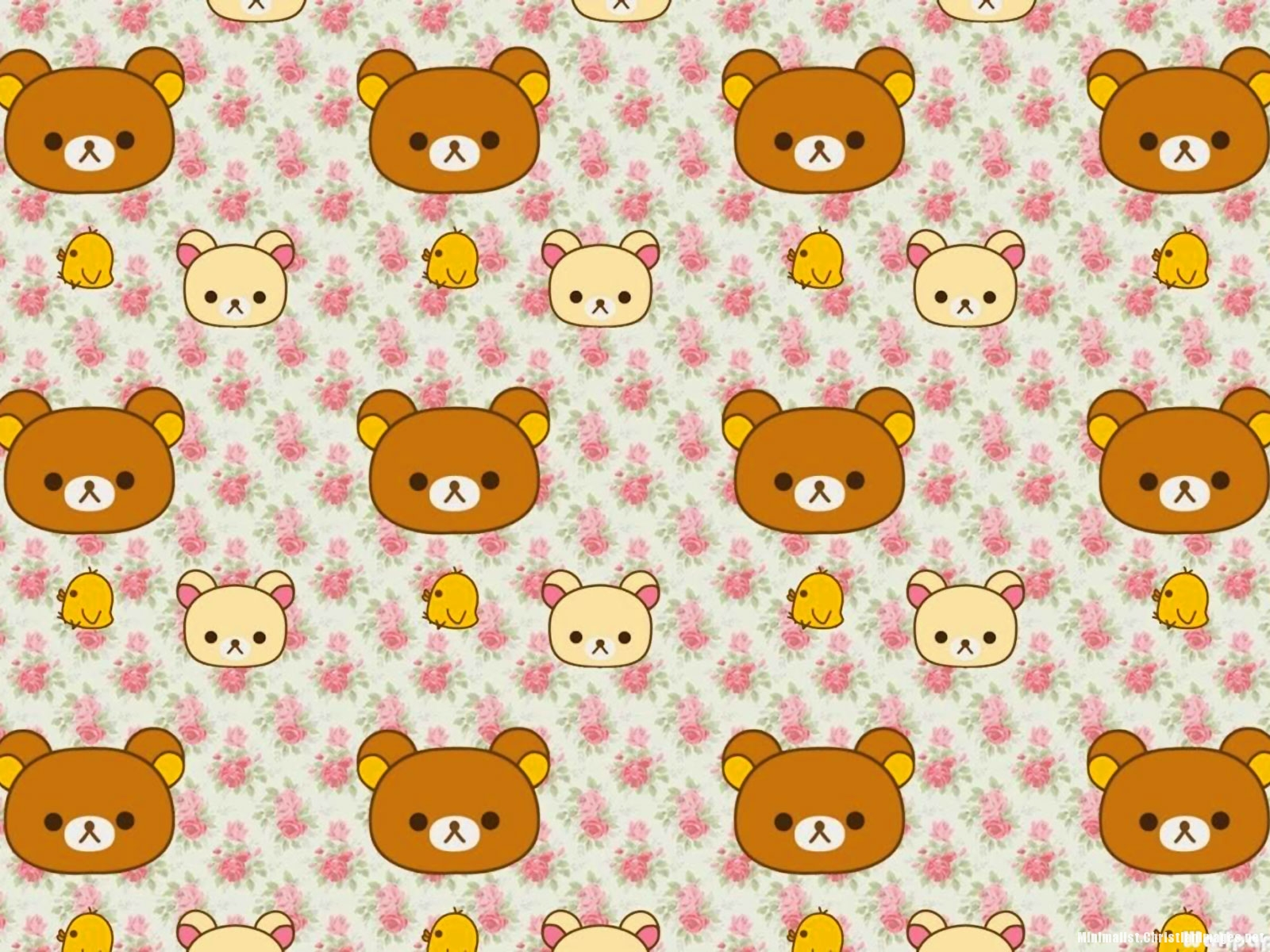 Rilakkuma Little Bear Pattern Background