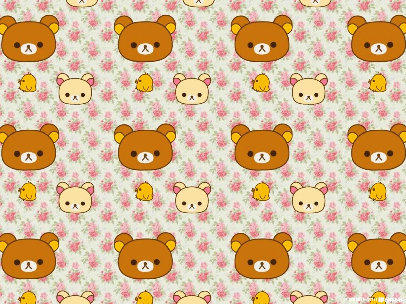 Rilakkuma Little Bear Pattern Background